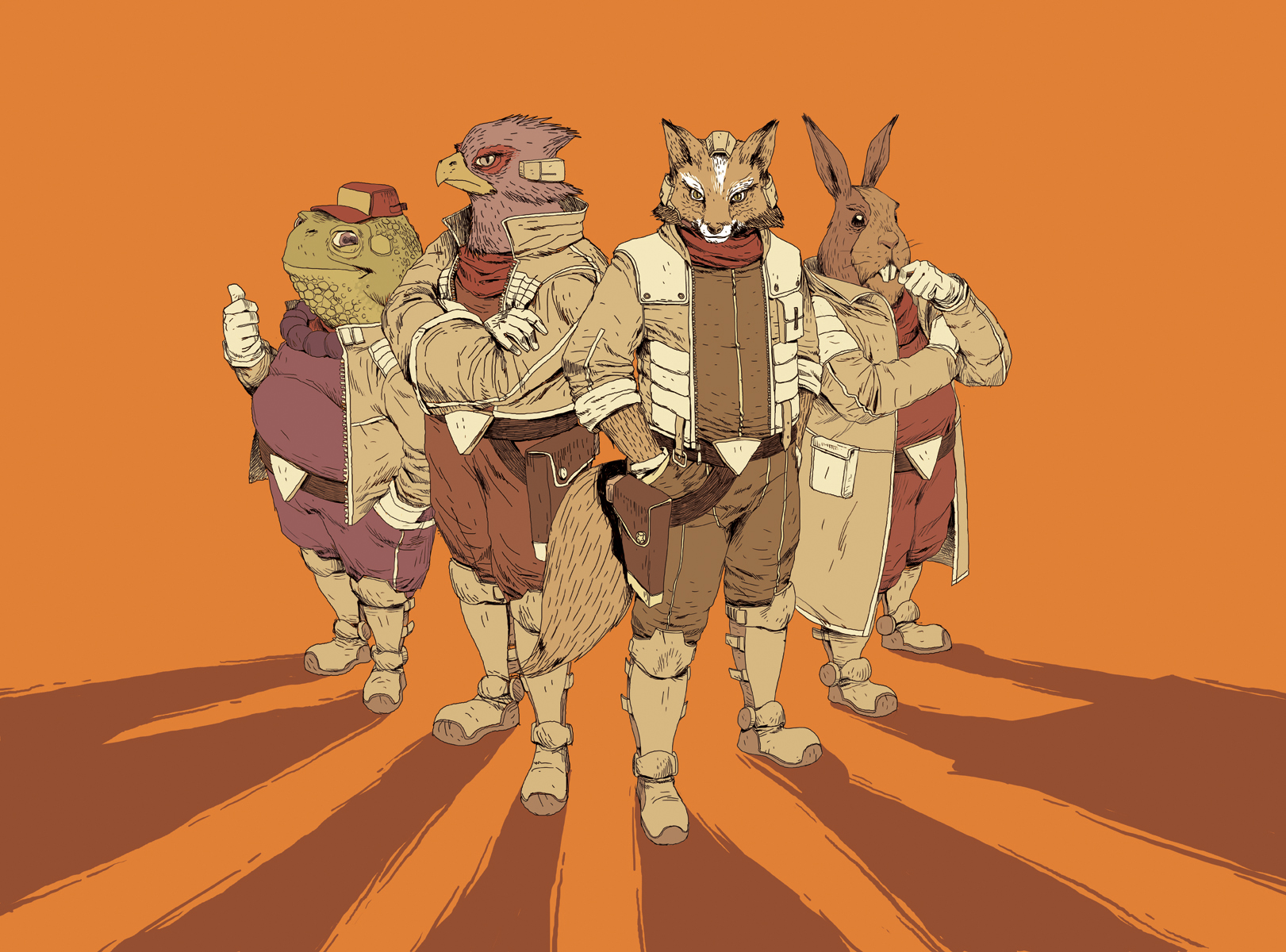Star Fox Team, GO by Ancorgil