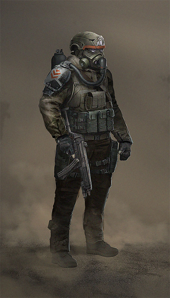 Mask Soldier by Ancorgil