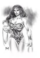 Wonder Woman Sketch by fernandomerlo