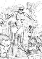 Ms. Marvel and X-men by fernandomerlo