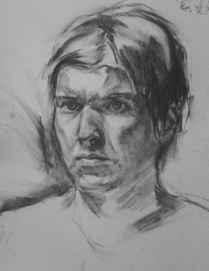 Self-Portrait with charcoal by eeliskyttanen