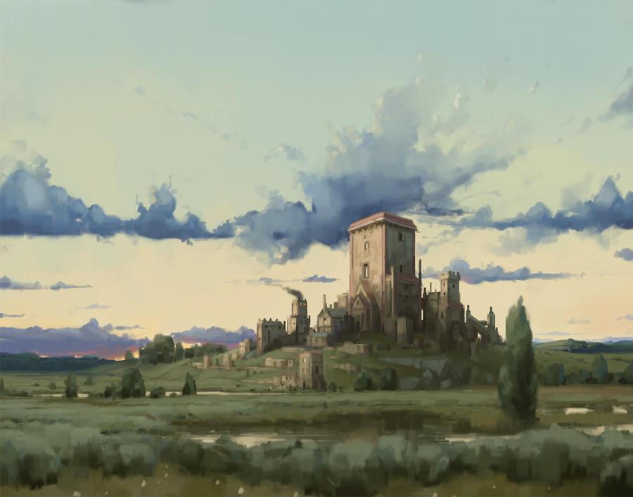 Painting a Castle -  process speedlapse video by eeliskyttanen