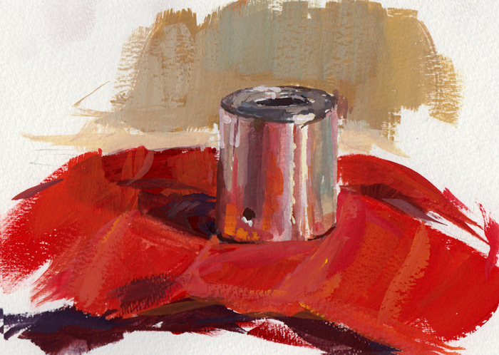 Gouache Study of a Small Speaker by eeliskyttanen