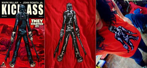 Kick-ass 2xstencil t-shirt.