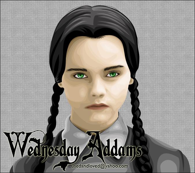 Wednesday Addams by usedandloved