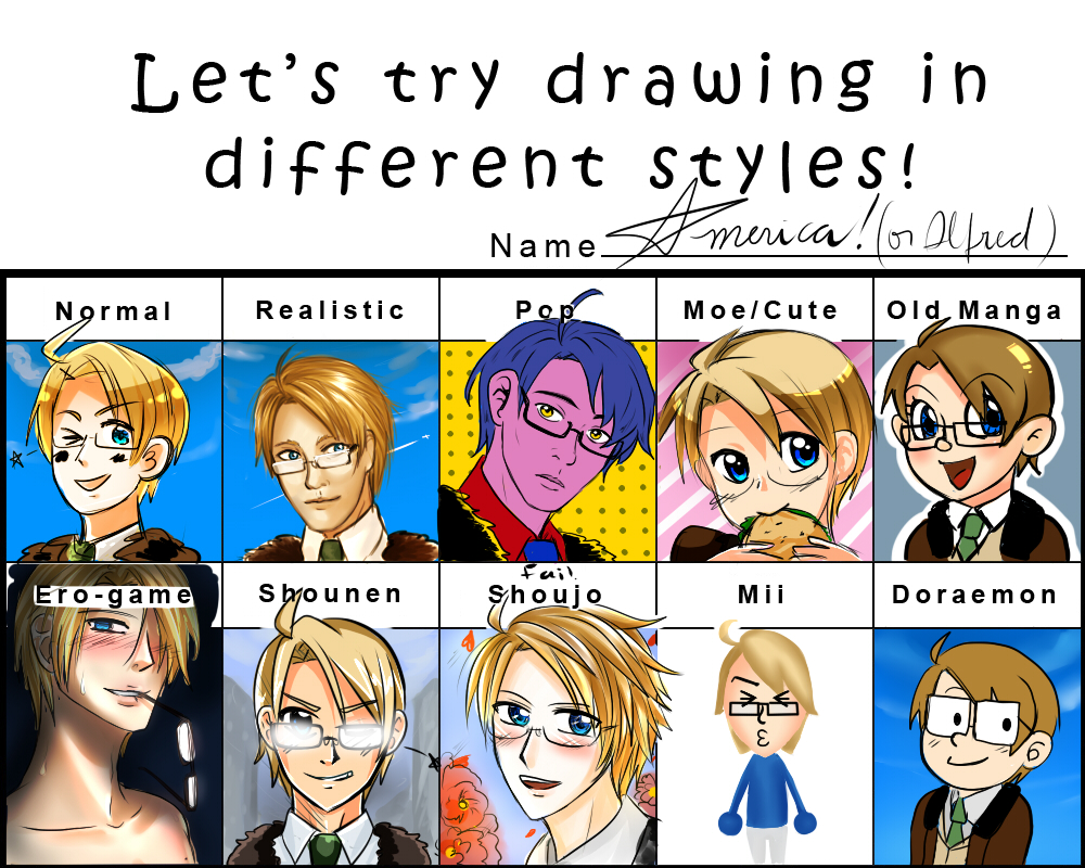 Pixiv Style Meme: aph America by NessieMcCormick
