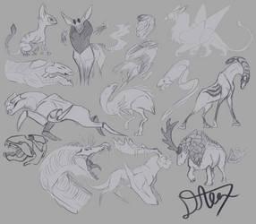 Creature sketch dump