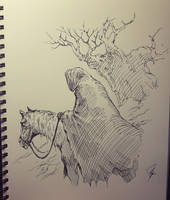 Nazgul in Shire by ashpwright