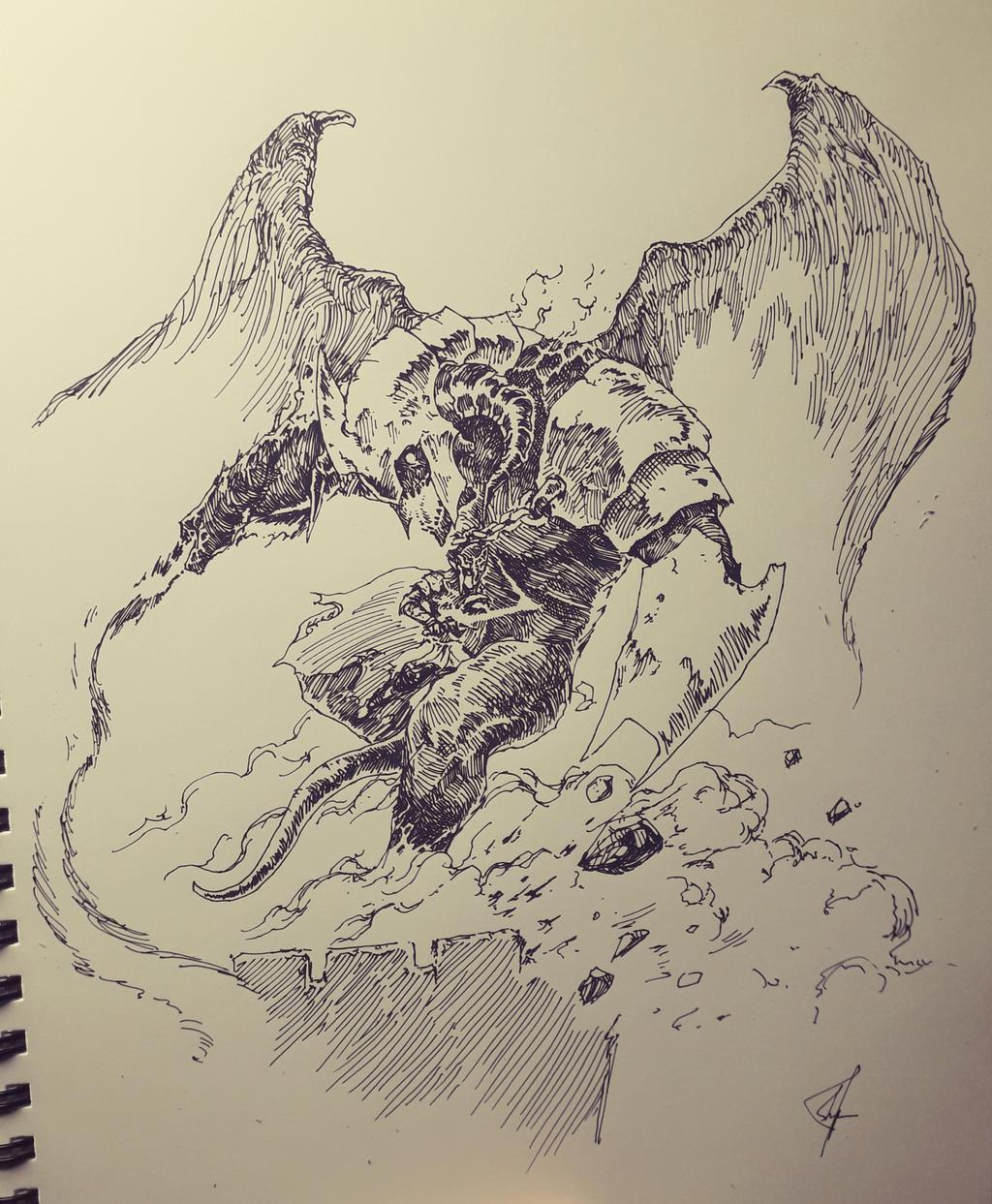 Ecthelion vs Gothmog by ashpwright