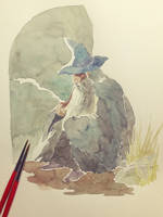 Gandalf watercolor doodle by ashpwright