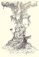 Flesh Tower by ashpwright