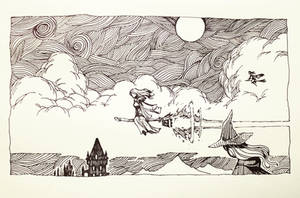 Flight of the Witches by ashpwright