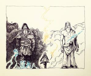The Gods of Lightning by ashpwright