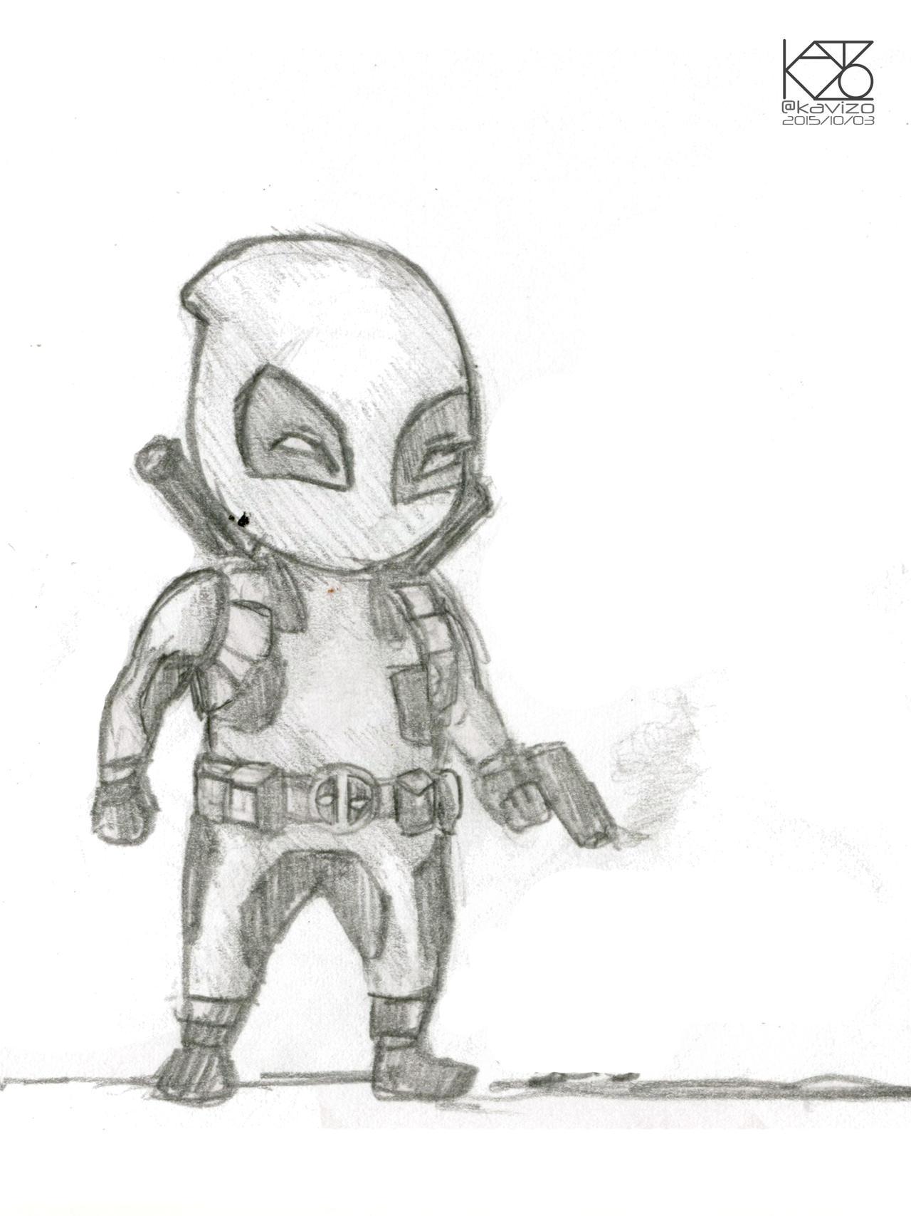 Deadpool Chibi Sketch By Kavizo By KAVIZO On DeviantArt