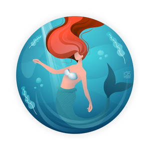 Mermaid Flat Vector Illustration