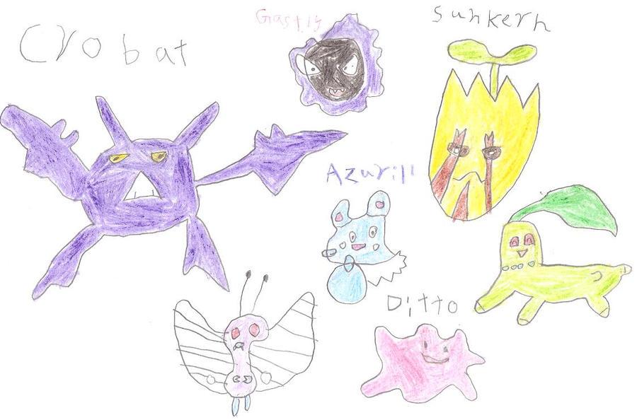 Billy's pokemon drawings