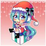 Vocaloid Hatsune Miku chibi Christmas version