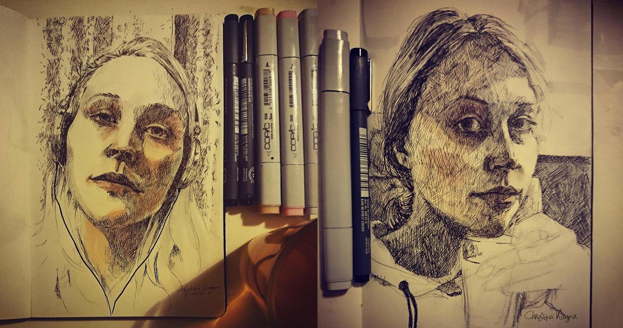 Selfportraits by ChristinaKingma