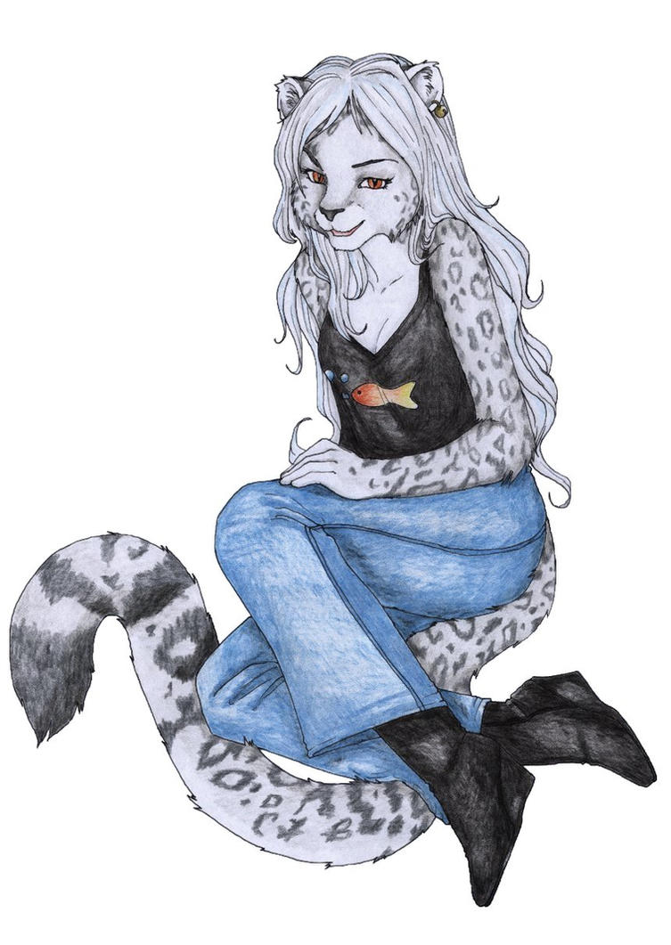Anthro snow leopard male - photo#7