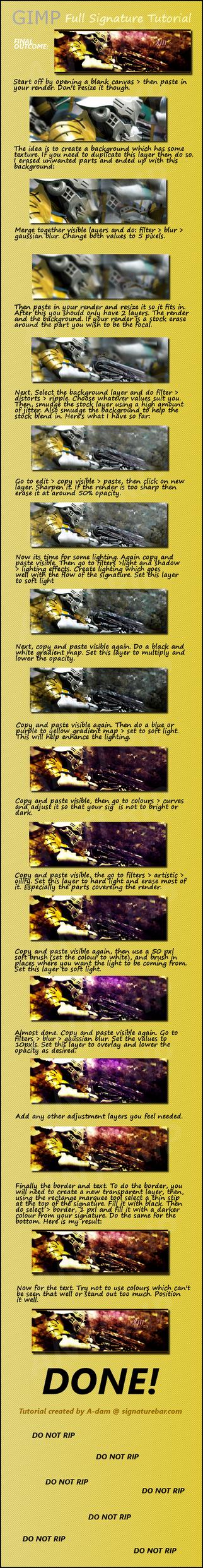GIMP signature tutorial by Shallowmede-X