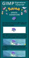 GIMP sprite signature tutorial