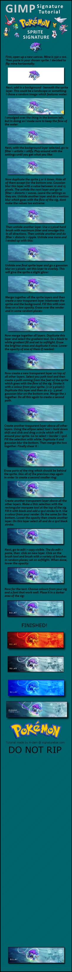 GIMP sprite signature tutorial by Shallowmede-X