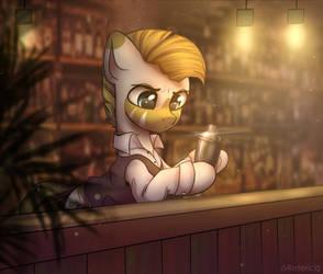 Cute zebra bartender
