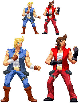Double Dragon Neon Billy And Jimmy Lee By Roxxiepop On Deviantart