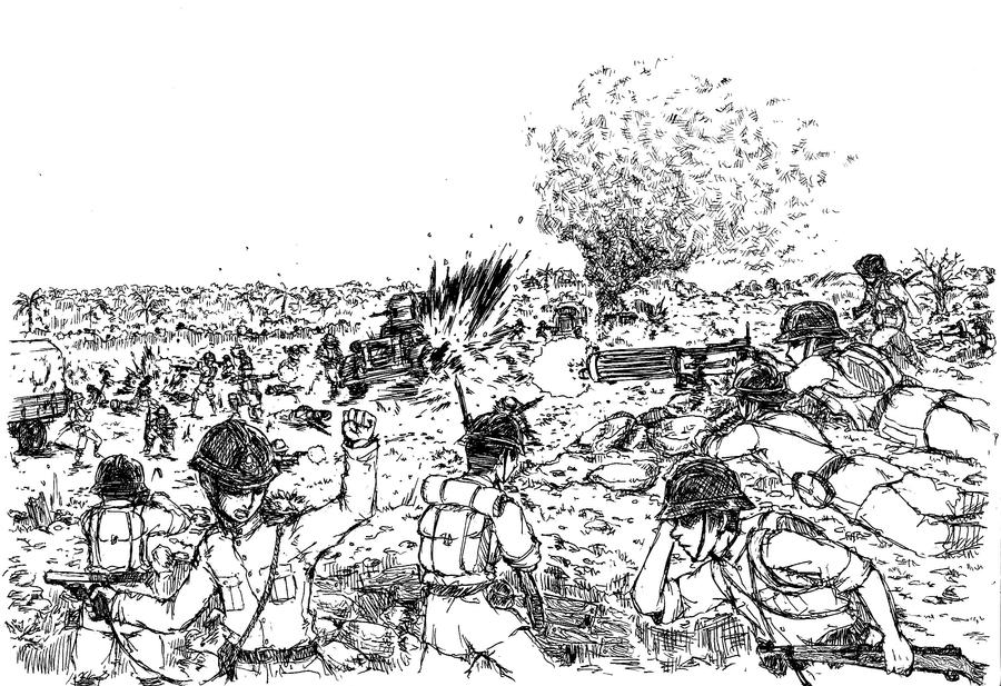 Battle of Phum Preav by siwawuth