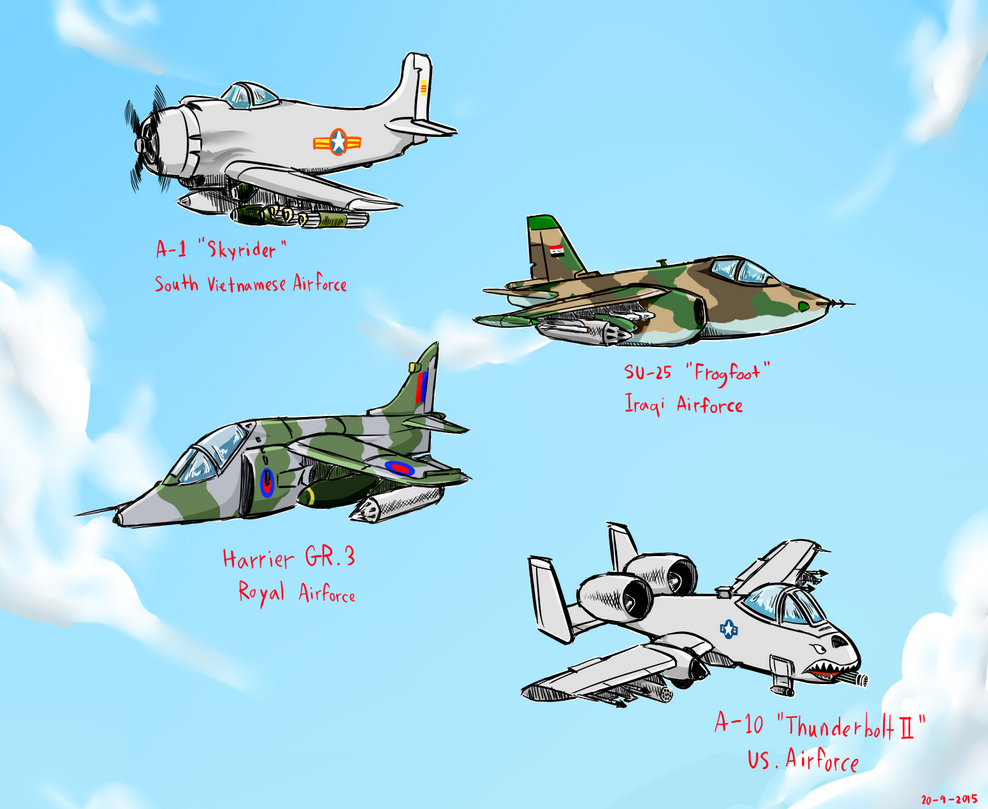 My fav Attack Aircraft by siwawuth