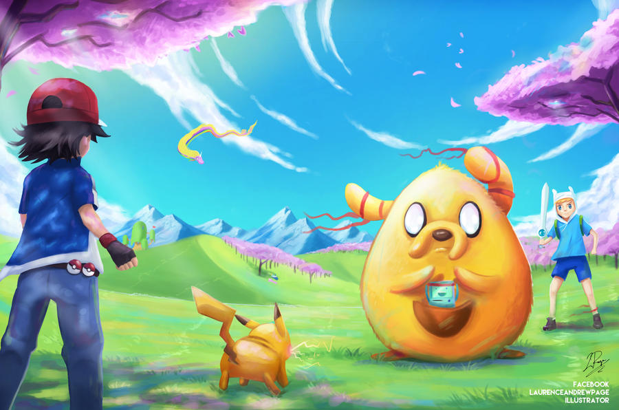 Pokemon Meets Adventure Time by LaurenceAndrewPage on