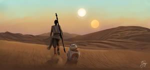 Star Wars: The Force Awakens Scene Rey