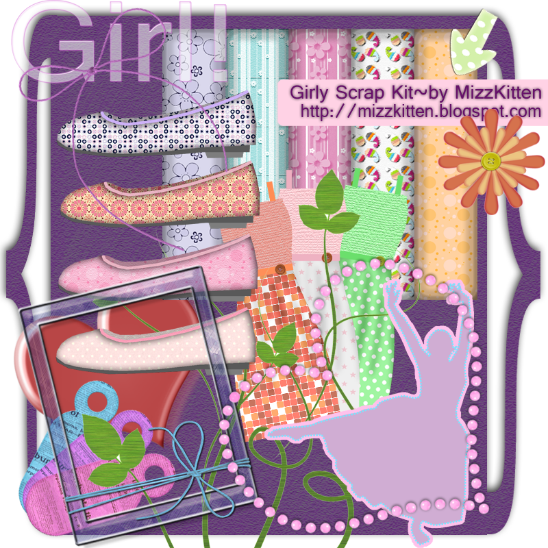 Girlie Scrap Kit by MizzKitten21