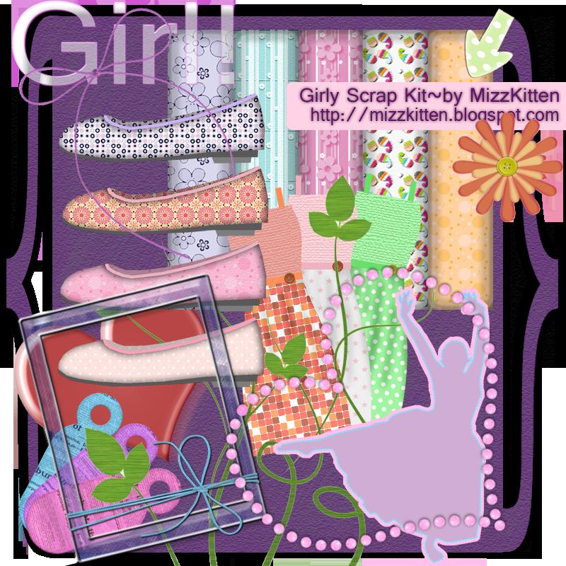 Girlie Scrap Kit by MizzKitten21