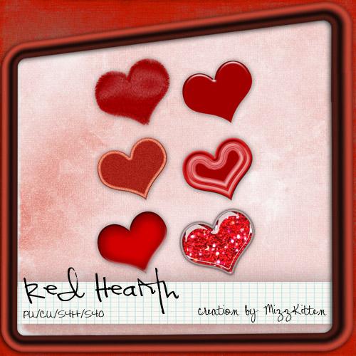 Red Heart by MizzKitten21