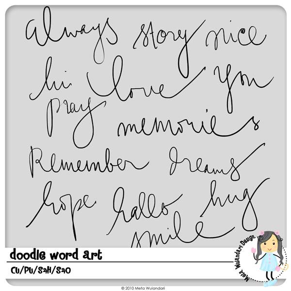Doodle Word Art By MizzKitten21