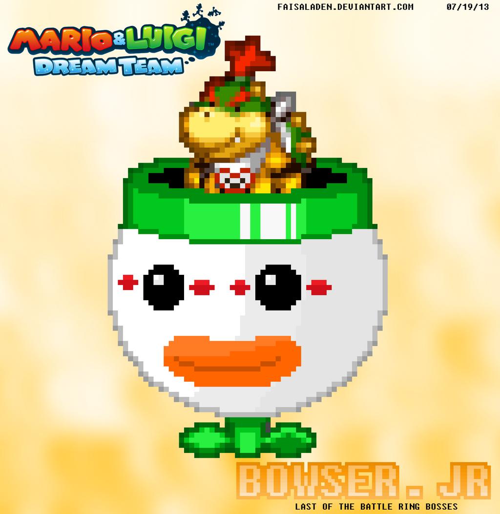 Mario And Luigi Dream Team Bowser Jr Time By Faisaladen