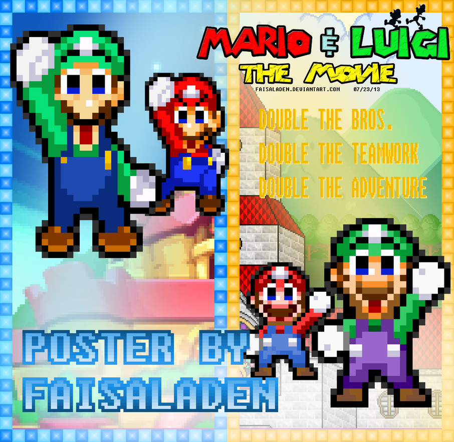 mario and luigi the movie double the fun poster by