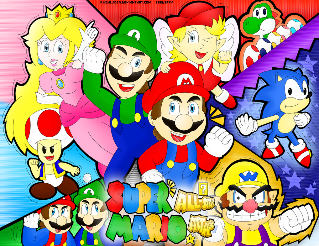 Super Mario All-Star Attack - Promotional Poster by FaisalAden
