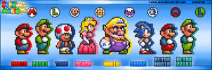 The 8 Playable Characters of SMASA by FaisalAden