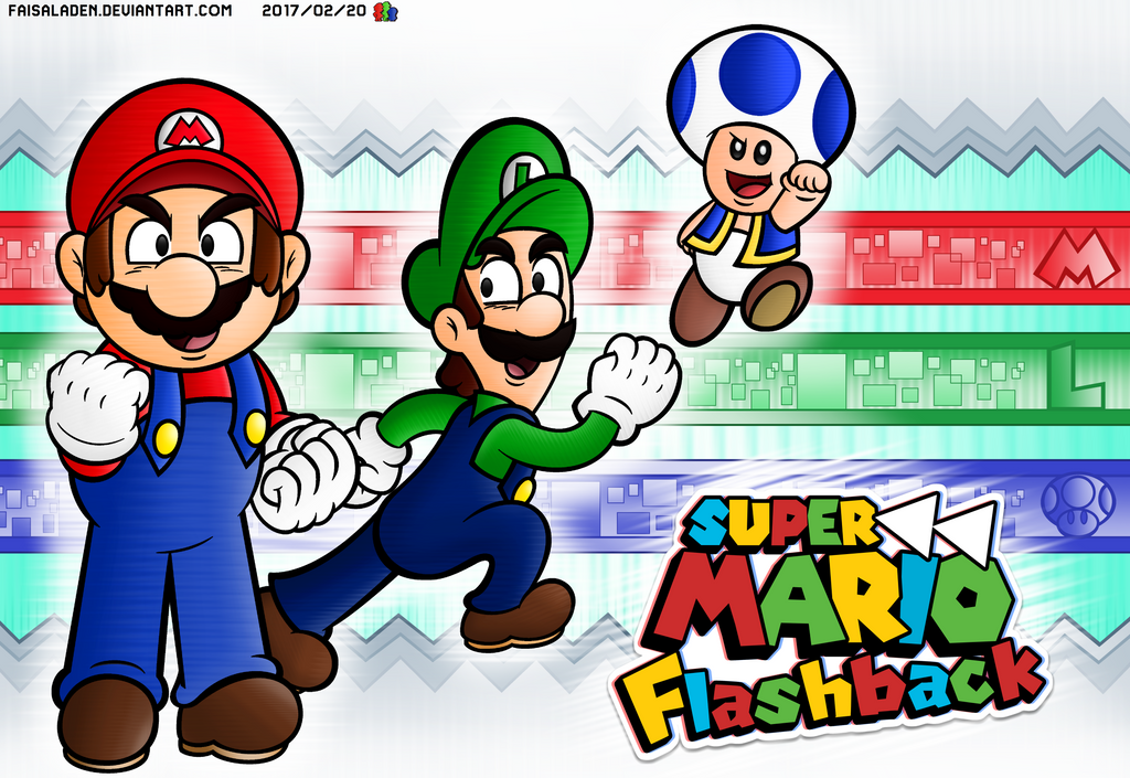 super mario flashback promotional poster by faisaladen