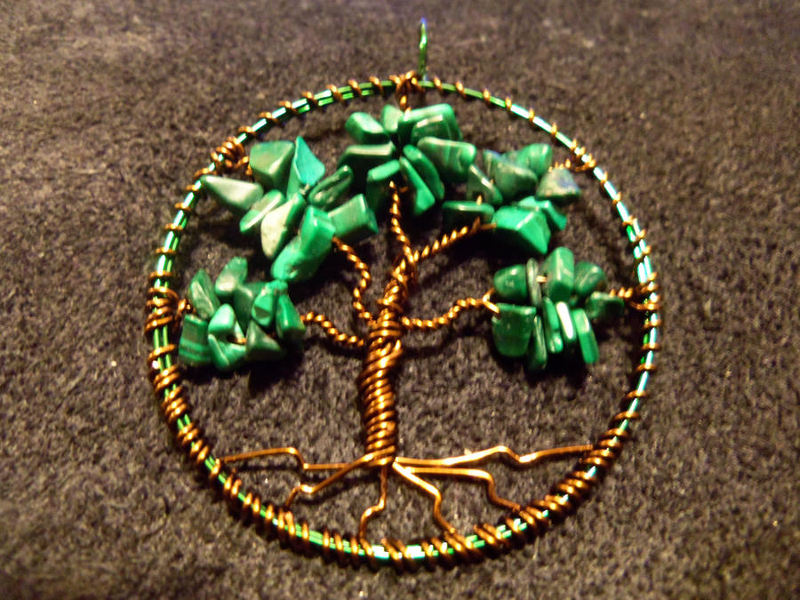 Malachite Tree of Life - Green/Bronze Wire by ItsAWrap