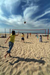 Volley at the beach II by For-The-Glory