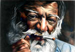 old man with a cigar