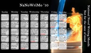 2010 NaNoWriMo Calendar