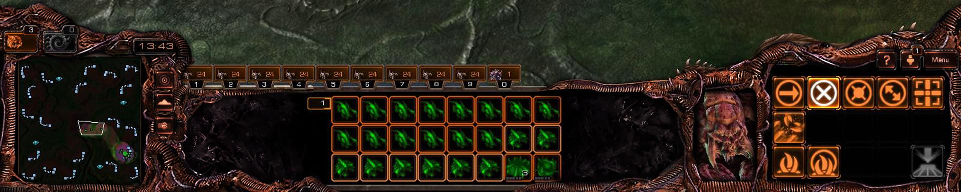 [HOTS] BroodWar Zerg UI overlay skin by Dexistor371