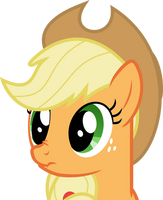 Scrunchy Face Applejack by Yetioner