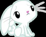 Cute Worried Angel Bunny