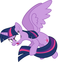 Twilight Sparkle protecting her tail by Yetioner