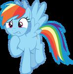 Rainbow Dash thinking about something